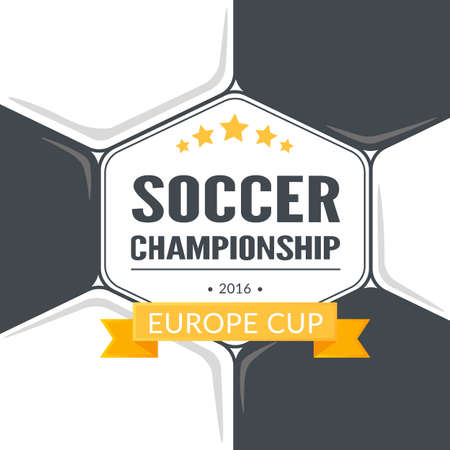 qualified: Vector template for Europe 2016 fooball championship.