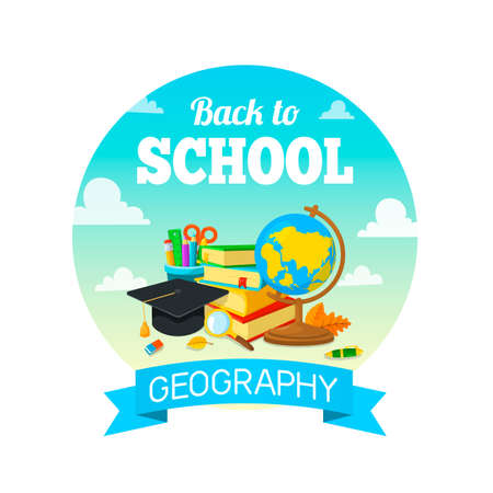 Bright background for education topic. Vector composition. Illustration
