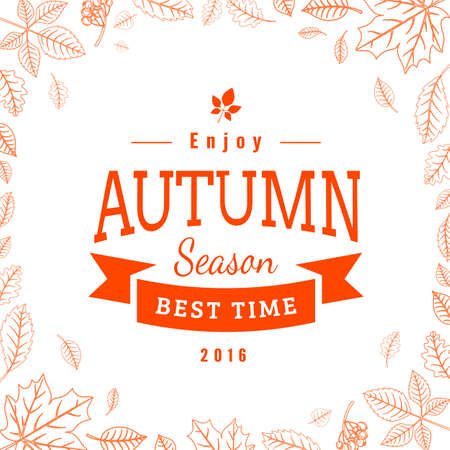 Autumn welcoming background. Vector illustration easy to edit. Illustration