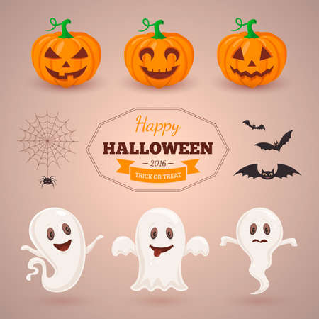 all saints day: Halloween party background design.