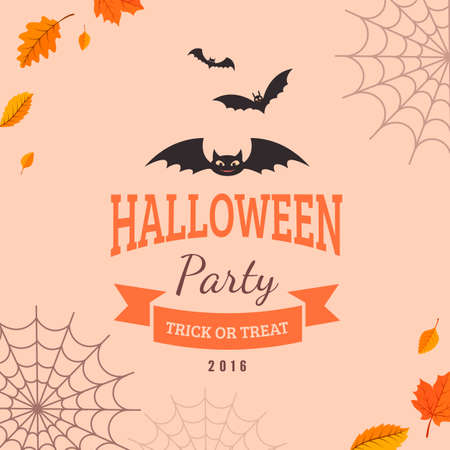 lamia: Halloween party background design. Eps 10 vector illustration