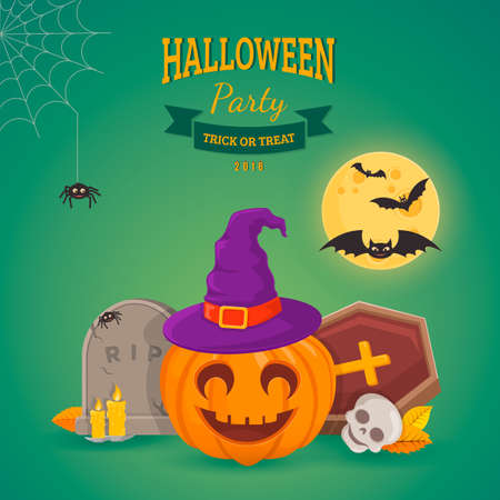 lamia: Halloween party background design.