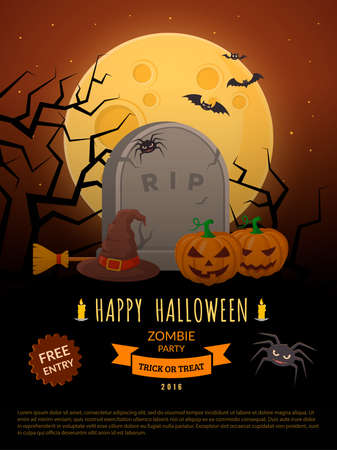 party background: Halloween party background design