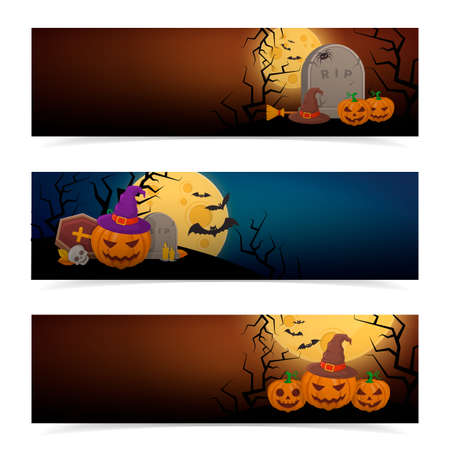 halloween party: Halloween party banners design.