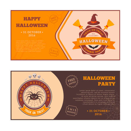 halloween party: Halloween party banners design Illustration