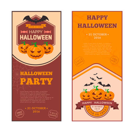 helloween: Halloween party banners design Illustration