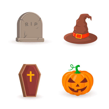 halloween party: Halloween party symbols.