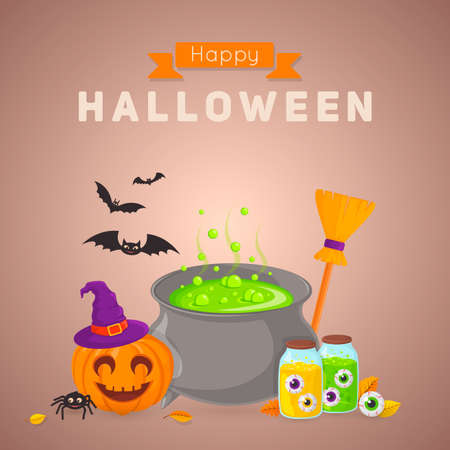 party background: Halloween party background design.