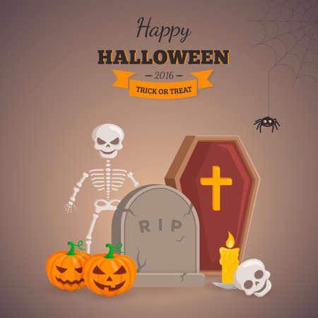Halloween party background design.