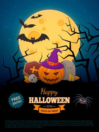 halloween party: Halloween party background design.