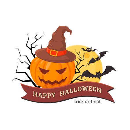 halloween party: Halloween party badge design. Illustration