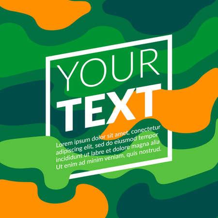 blots: Colorful blots and text block.
