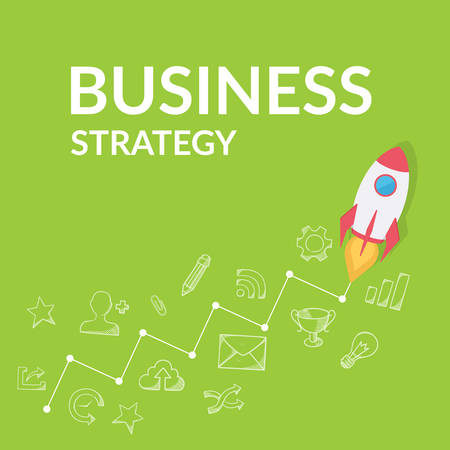 corporative: Business development strategy. Modern flat design template. Illustration