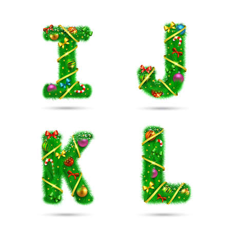 Christmas and New Year holiday design elements.