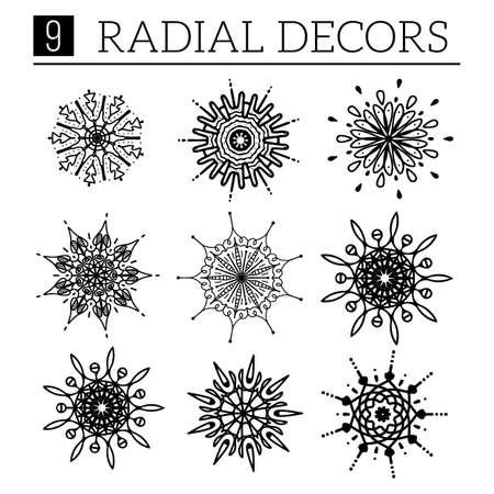 radical: Radical design elements. Easy to edit vector illustration.