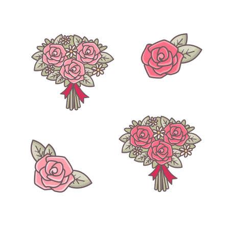 Roses decorative elements. Vetores