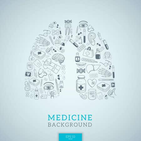 Human lungs shape.