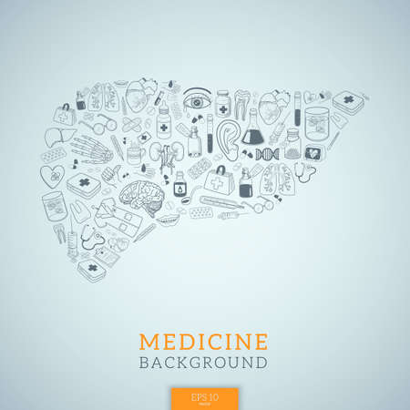 Vector background Medical topic. Illustration.