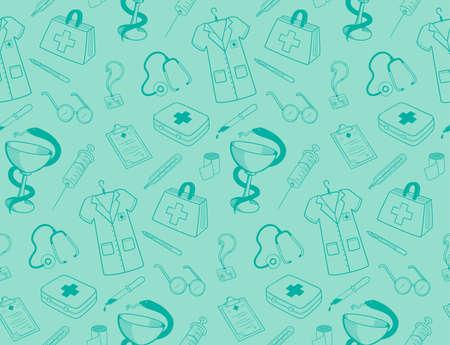 Medicine icons pattern.