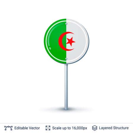 algeria: Algeria flag isolated on white.