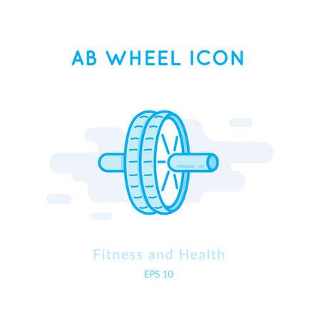 AB Wheel icon isolated on white.