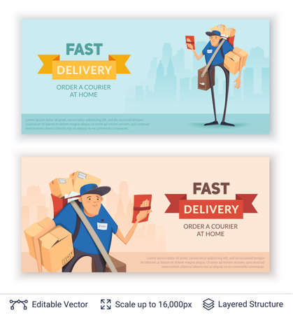 deliveryman: Deliveryman and ad text.