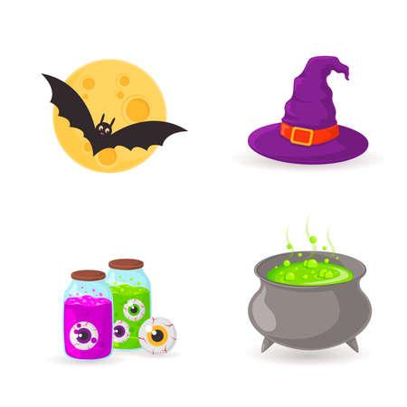 lamia: Halloween party symbols. Eps 10 vector illustration Illustration