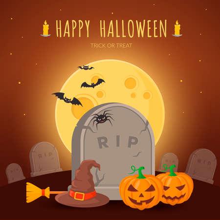 of helloween: Halloween party background design. Eps 10 vector illustration