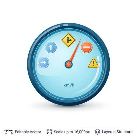 dashboard: Car appliance illustration.