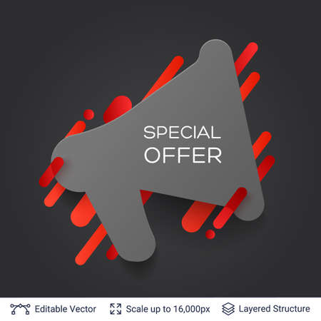 Black Friday Special Offer badge. Illustration