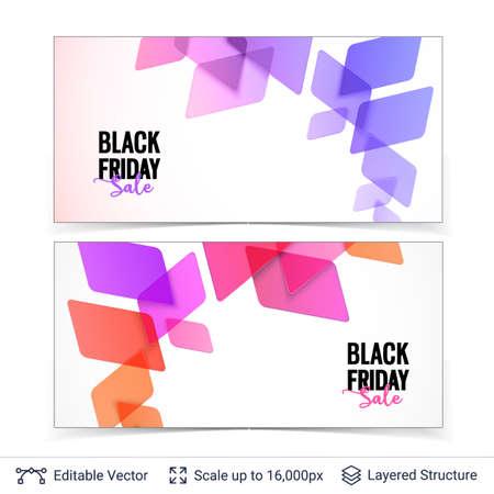Black Friday sale background design.