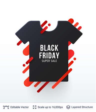 Black Friday Fashion Clothing Sale. Illustration