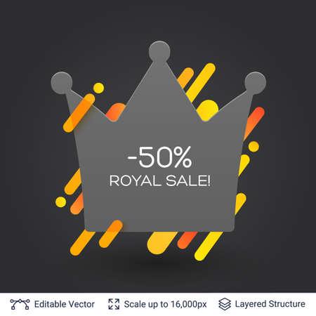 Stylish label design easy to edit. Vector illustration. Stock Illustratie