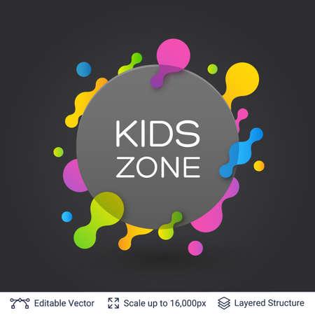 Stylish label design easy to edit. Vector illustration. Illustration