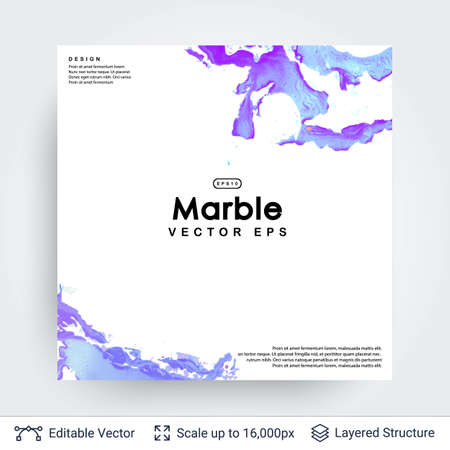 Abstract ink background. Marble style. Illustration