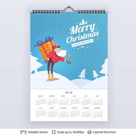 English planning calendar  isolated on plain background.