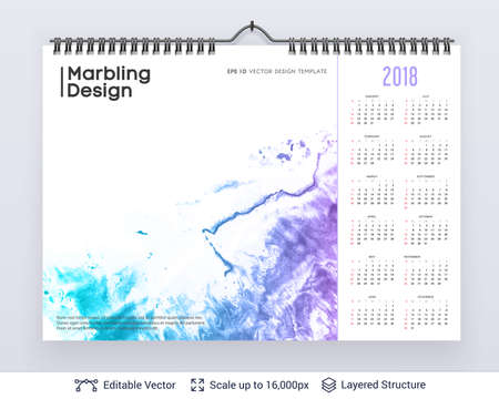 English planning calendar isolated on black background.