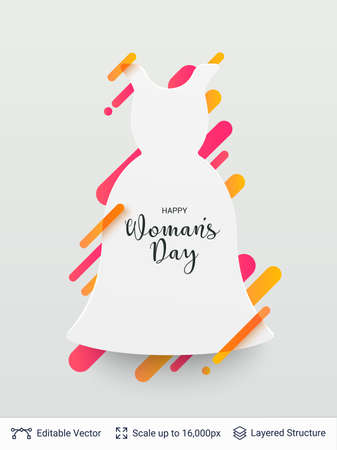 Greeting card for International Womens Day. Vector illustration. Illustration
