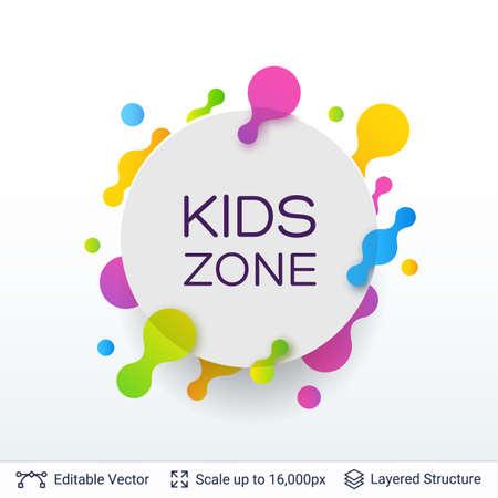 White badge Kids Zone sticker.