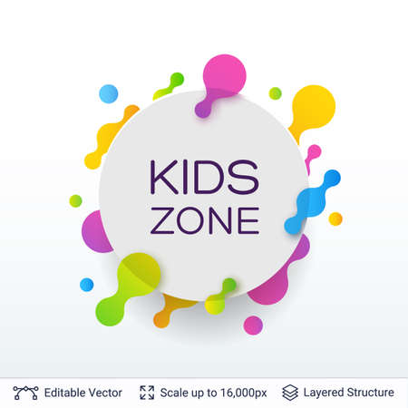 White badge Kids Zone sticker.