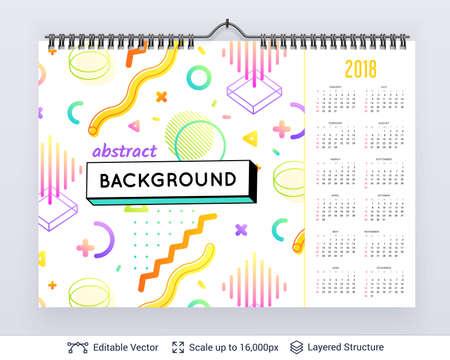 English planning calendar.  イラスト・ベクター素材