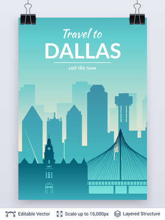Dallas famous city scape.