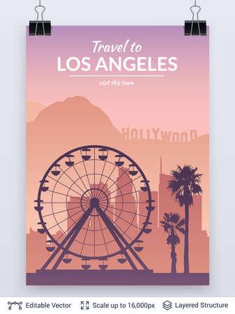 Los Angeles famous city scape.