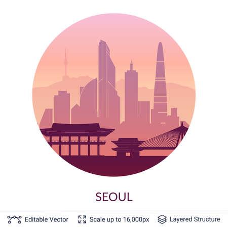 Seoul famous city scape.