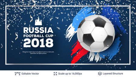 football 2018 Banner Concept.