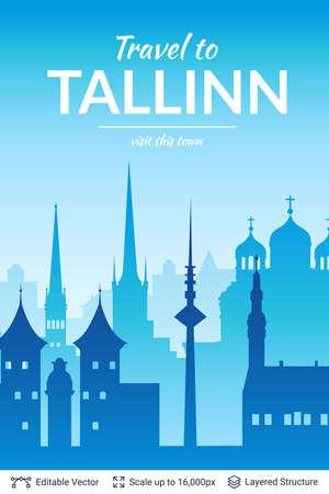Beroemde stadsgezicht van Tallinn.