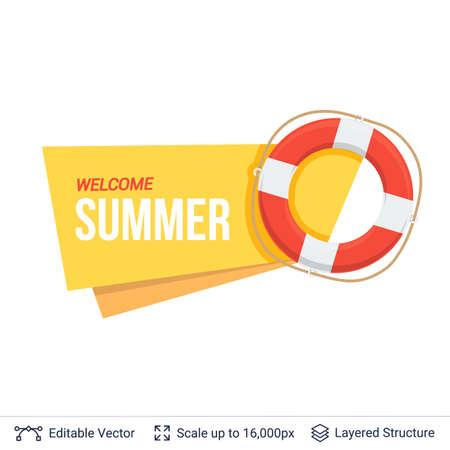Summer badge isolated on white.