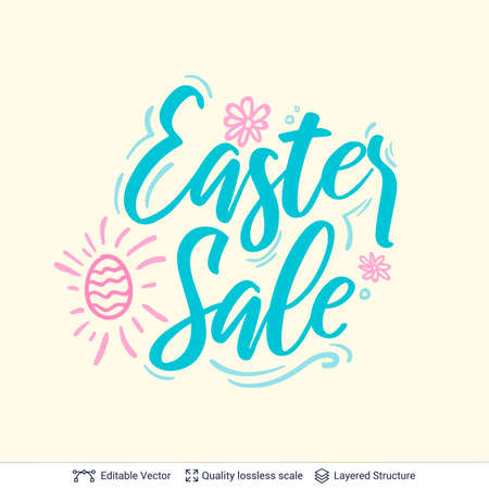 Easter Sale greeting text composition.