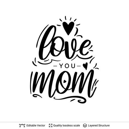 Happy Mothers Day greeting text black on white.