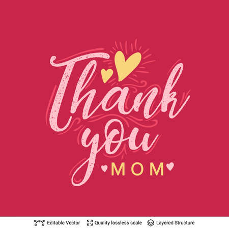 Thank You - Mothers Day greeting text.